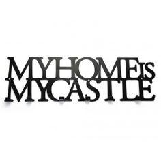 Wieszak do przedpokoju MY HOME IS MY CASTLE