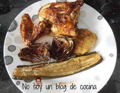 No soy un blog de cocina: POLLO AL HORNO HECHO CON LACTONESA Y VERDURAS