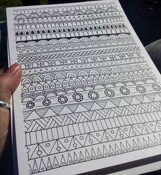 Doodle Art Drawing, Zentangle Drawings, Mandala Drawing, Pencil Art Drawings, Cool Art Drawings, Zentangles, Hair Drawings, Doodle Art Designs, Doodle Patterns