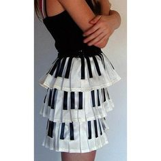 Piano Tiered Skirt - so cute!