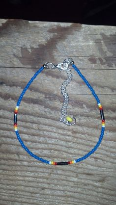 Native American Style Beaded  Anklet