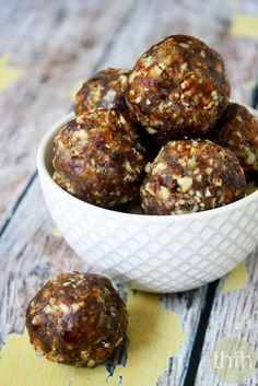 Clean Eating Pecan Pie Truffles...made with only 3 clean ingredients, are ready in about 5 minutes and they're raw, vegan, gluten-free, dairy-free, no-bake, paleo-friendly and contain no refined sugar | The Healthy Family and Home