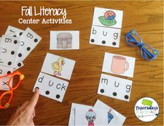 My kids would love this short vowel fall center! Other fun activities in this resource too!