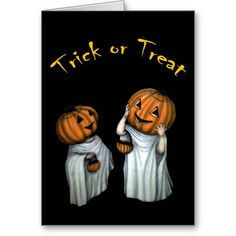 Trick or Treat Halloween Greeting Card available at www.zazzle.com/stevebrownleeart