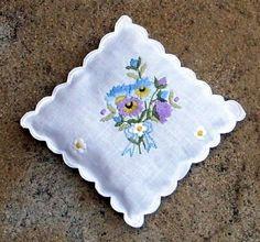 embroidered sachet bag