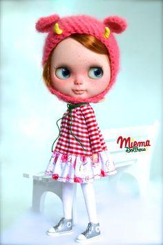 DRESS for Blythe by Miema Dollhouse от miema4dolls на Etsy