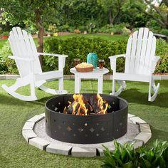 Adirondack Rocking Chair, Wood Adirondack Chairs, Outdoor Areas, Outdoor Chairs, Outdoor Decor, Plywood Furniture, Fire Pit Area, Fire Pits, Backyard Landscaping