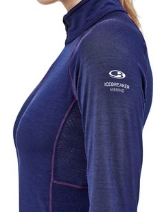For highly active, high-output days on the skis, trail, rock, or bike, the Women's Zone Long Sleeve Half Zip provides all the benefits of merino wool with strategic ventilation. The Zone features our BodyfitZONE™ construction, which combines lightweight 200gm stretch merino wool with strategically placed merino mesh panels to help regulate temperature during stop-and-go days. A deep half zip aids in dumping heat when you're moving fast, and the gusseted side panels keep the shirt from…