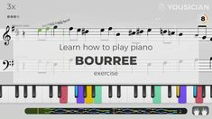 Learn to play Bourree made famous by Johann Sebastian Bach on piano with the Yousician app! Perfect for beginners and advanced musicians. Piano Exercises, Easy Piano Songs, Keyboard Lessons, Sebastian Bach, Ukulele, Singing, Play, Learning, Easy Songs For Piano