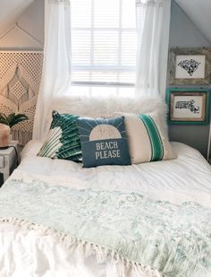 Cute Bedroom Ideas, Room Ideas Bedroom, Home Bedroom, Bedroom Decor, Bedroom Themes, Bedrooms, Beach Room Decor, Surf Room, Aesthetic Room Decor