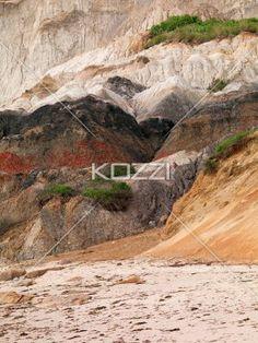 image of sandstone cliff. - Image of sandstone cliff at beach.