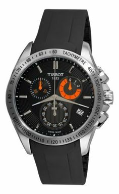 Men's T0244171705100 Veloci-T Chronograph Black Dial Watch by #Tissot $410.27