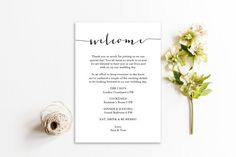 Contempo Welcome card printable  5x7 inches  by GraceDesignsDIY