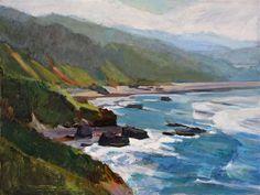 "Daily Paintworks - ""Oregon Beach"" - Original Fine Art for Sale - © Gretchen Hancock"