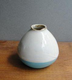 Tiny Blue & White Bud Vase