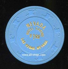#LasVegasCasinoChip of the Day is a $1 Nevada Hotel old chips from the 80s you can get here with small print http://www.all-chips.com/ChipDetail.php?ChipID=18864 #CasinoChip #LasVegas
