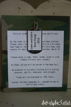 Camo Birthday Invitations Printable Free - camouflage party ideas