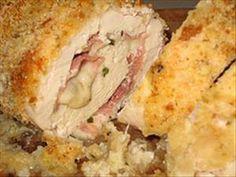 parmesan crusted chicken cordon bleu.....for tomorrow night