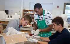 Parents and families visited campus and observed art classes during 2013 Family Days.