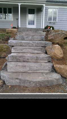 Concrete Steps made to look natural (Front Cement Step)