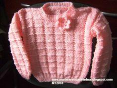 blusas de tricô infantil