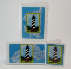 Lighthouse Gift Set $32 For the lighthouse collector on your list, this coordinating gift set is sure to delight her. Includes address phone book, checkbook, and credit card case. #giftideas  #giftset  #lighthouse  #jadesmenagerie  #checkbookcover #jadesmenagerie