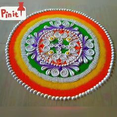 Easy Rangoli Designs Videos, Simple Rangoli Border Designs, Best Rangoli Design, Easy Rangoli Designs Diwali, Indian Rangoli Designs, Simple Rangoli Designs Images, Rangoli Designs Latest, Rangoli Designs Flower, Latest Rangoli