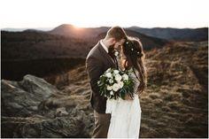 bohemian bridal style | Asheville Elopement – Michelle Lyerly Photography