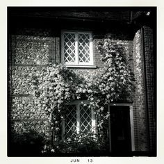 Brick and flint houses, typical of the Chilterns where The September Garden is set...
