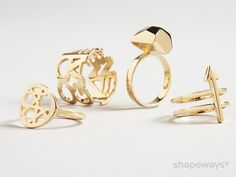 Welcome to the Golden Age of 3D Printing: Introducing 14 Carat Gold to Shapeways - Shapeways Blog on 3D Printing News & Innovation