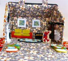 Fabric Dollhouse - Made By Marzipan