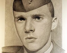 Vincent Santaniello, drawn by Michael Reagan (Courtesy of Michael Reagan) Michael Reagan, Navy Corpsman, Black And White Portraits, Veterans Day, Vietnam War, Gold Stars, Current Events, Afghanistan, The Man