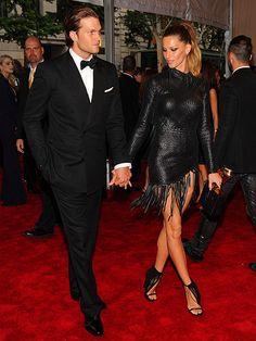 Gisele Bundchen with boyfriend Tom Brady.     www.wagworld.co.uk