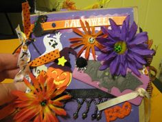 Mini HALLOWEEN paper bag Scrapbook album, 12 pages! TONS of tags and photo mats | eBay