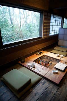 justthedesign:  Fireplace Zenzo ryokan @ Aso By Melanie Ko