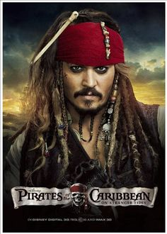 Poster: Piratas Do Caribe (Capitão Jack Sparrow)