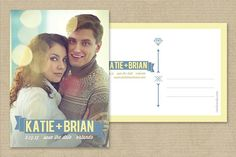 Save The Date Postcard Template by cardcandy on @creativemarket