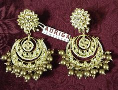 Chandbali's with golden pearls for this wedding season !