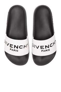 GIVENCHY Leather Logo Slide Sandals. #givenchy #shoes #