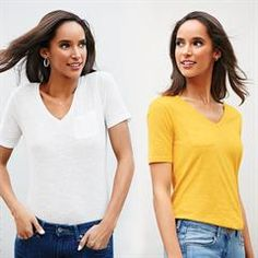 Avon's Tissue Tee features four featherweight tees in yellow, grey, white and navy. Avon Fashion, Womens Fashion, Fashion Trends, Avon Clothing, Signature Collection, Latest Trends, Casual Shorts, Avon Products, Plus Size