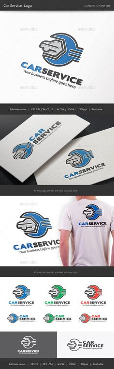 Car Service Garage Logo — Vector EPS #maintenance #auto • Available here → https://graphicriver.net/item/car-service-garage-logo/9423254?ref=pxcr