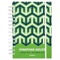 Jonathan Adler 17-month Agenda 2014–2015 in Desk Accessories