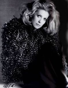Portrait of Catherine Deneuve by Richard Avedon, 1971