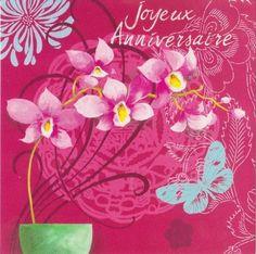 E16 04 13 Carte Anniversaire Femme Orchidee Cartes