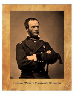 General William Tecumseh Sherman Civil War Union Army  8X10 Photo