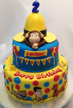 Curious George cake by fondant cakes by dee