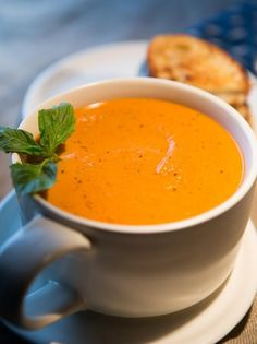Get Tiffani Thiessen's Homemade Roasted Tomato Soup Recipe from Cooking Channel