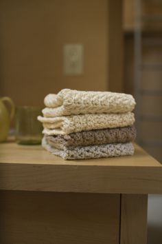 Sandy Shore Washcloth Set. These are quick to make and are a great gift. I love Lion Brand's patterns. For the most part they are accurate and easy to follow.