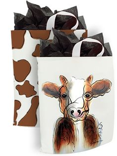 250 x Schlaufentragetasche 38 x 45 + 2 x 5 cm. Moose Art, Animals, Drawing Drawing, Tote Handbags, Cow, Recyle, Animales, Animaux, Animal