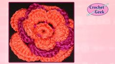 CROCHET FLOWER - How to add Rounds Crochet Geek   Perfect for my flower blanket